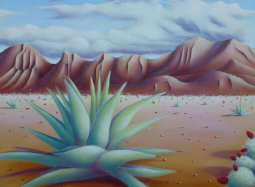 Shane Moad Agave In West Texas Painting