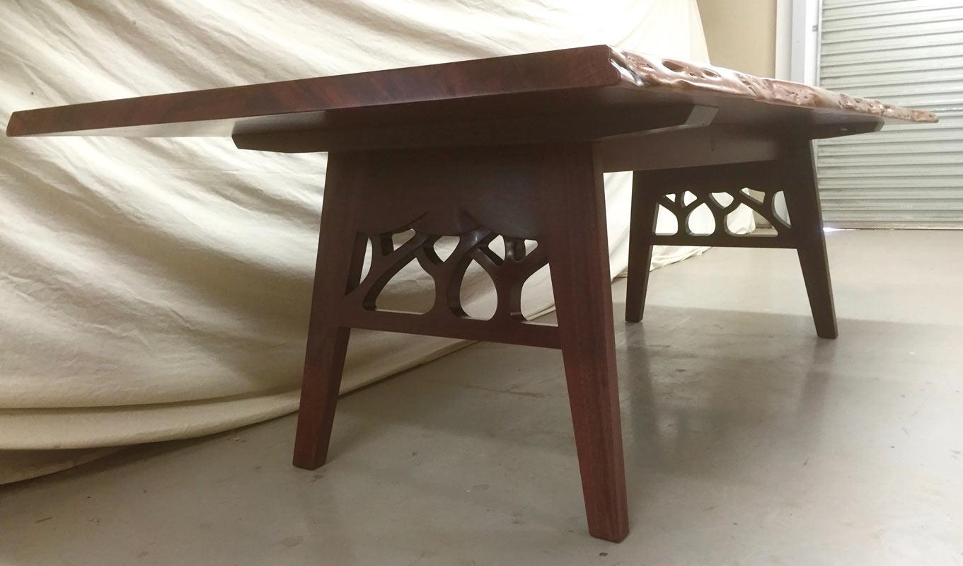 Canopy Dining Table Jarrah Single Slab Timber Base Detail
