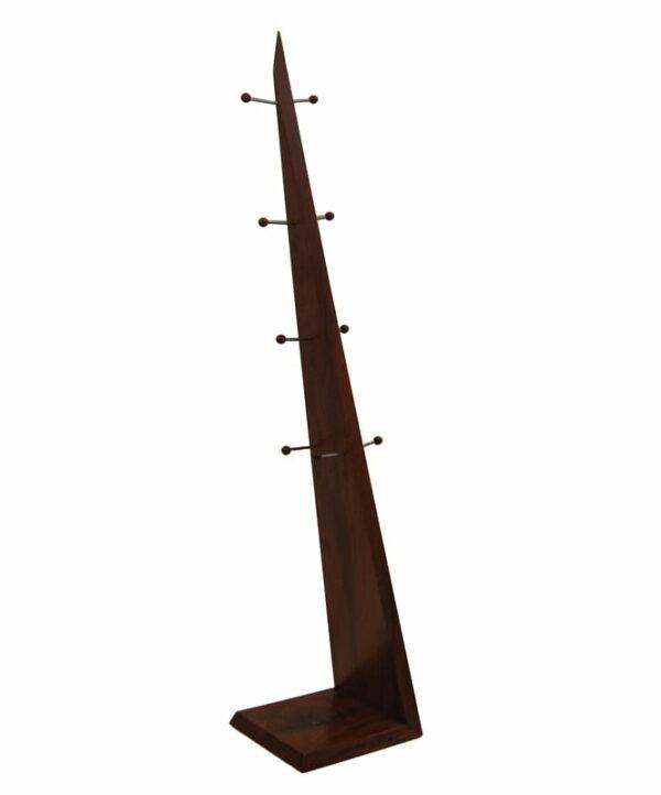 Freestanding Timber Hat Coat Rack Back