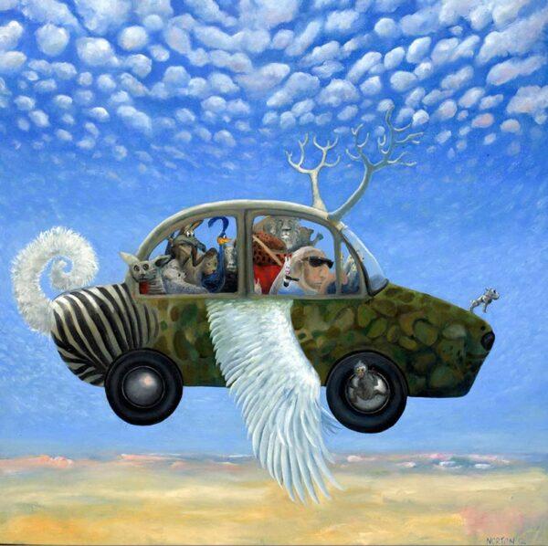 Helen Norton Hybrid Car Painting