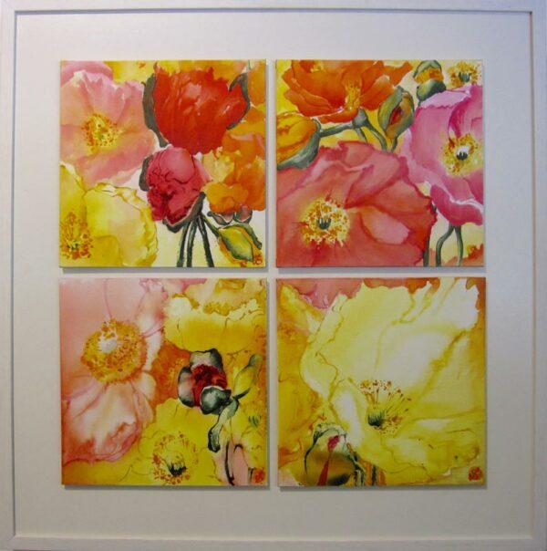 Jenny Sanderson Poppies 81X83Cm Framed 1950