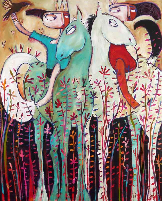 Janine Daddo And So A Kingdom Grew Painting