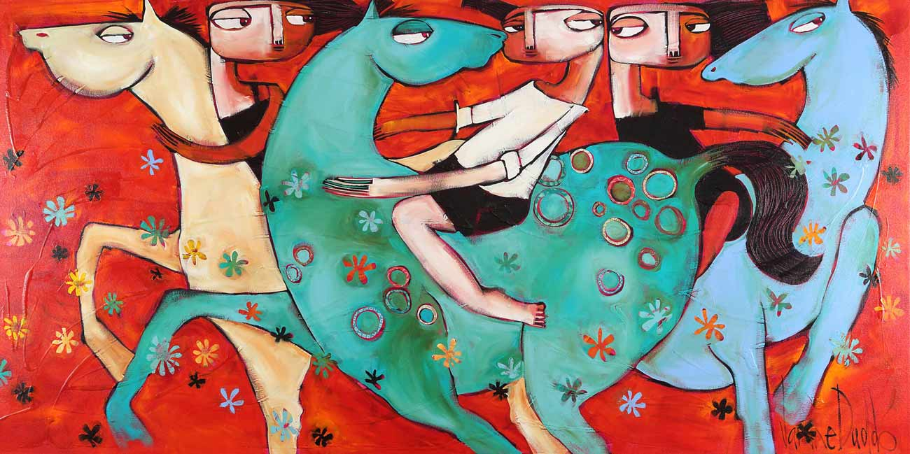Janine Daddo Gallop Painting