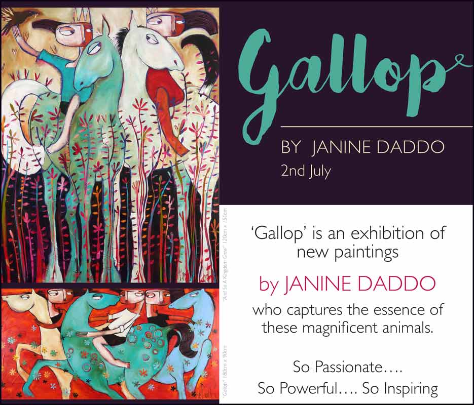 Janine Daddo Exhibition Gallop 2nd July Fine Art