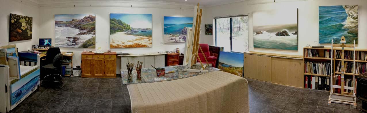 Peter Scott Artist Studio 2016 1