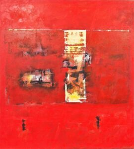Ralph Stanton Symphony In Red Painting