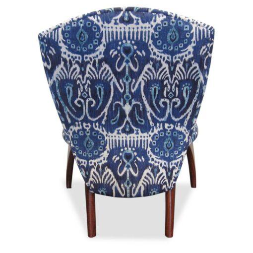 Cray Jarrah Lounge Chair Ikat Back View