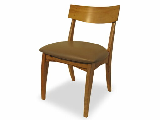 Dance Dining Chair With Small Square Backrest Front