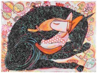Janine Daddo   Black Horse Dreaming Fine Art