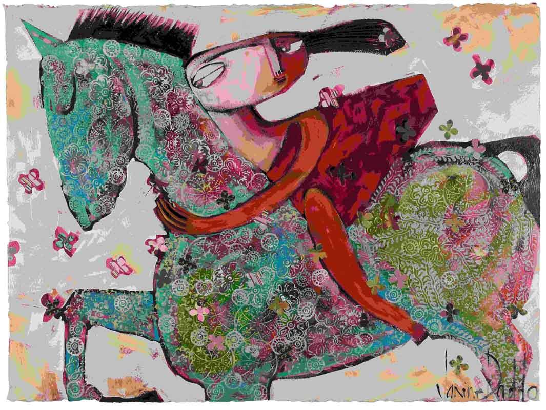 Jda162 Janine Daddo Dancing Horse