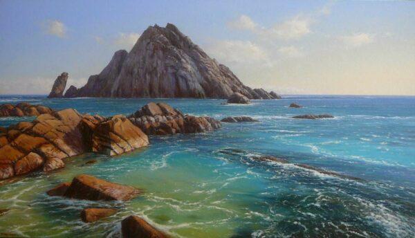 Kn88 Kerry Nobbs Sugar Loaf Rock Painting