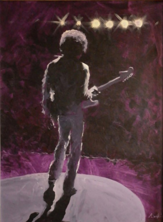 Simon Collins The Boy From Seattle Jimmy Hendrix painting 562x768