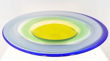 Eileen Gordon Circular Platter Glass Art