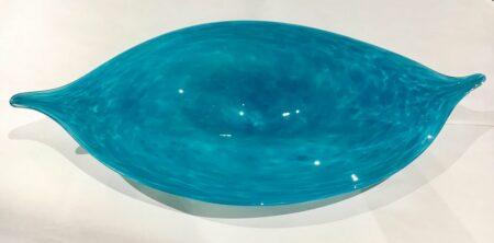 Grant Donaldson Dappled Aqua Leaf Platter