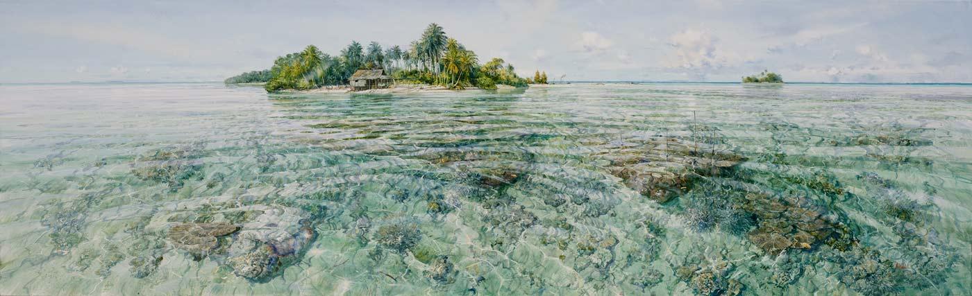 Larry Mitchell   Island Bismark Sea PNG Fine Art
