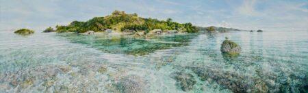 Larry Mitchell Island Cenderawasih Bay West Papua Painting