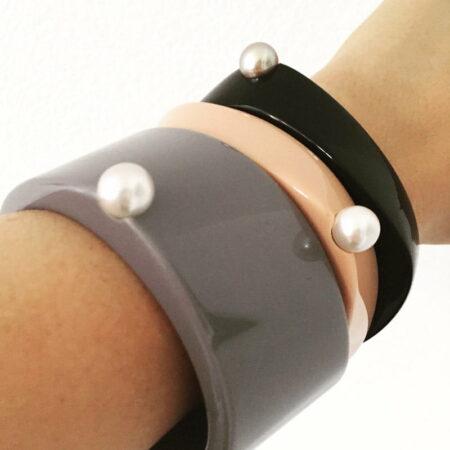 Liddon Pearls Abstract Bangles