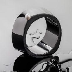 Liddon Pearls   Abstract Maxi Pearl Bangle Fine Art