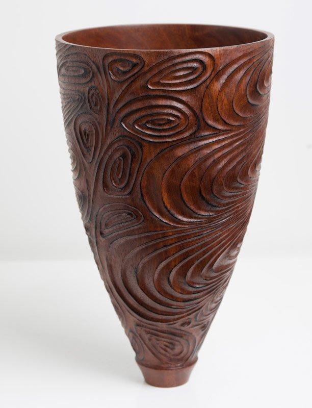 Neil Turner   Jarrah Carved Vase Fine Art