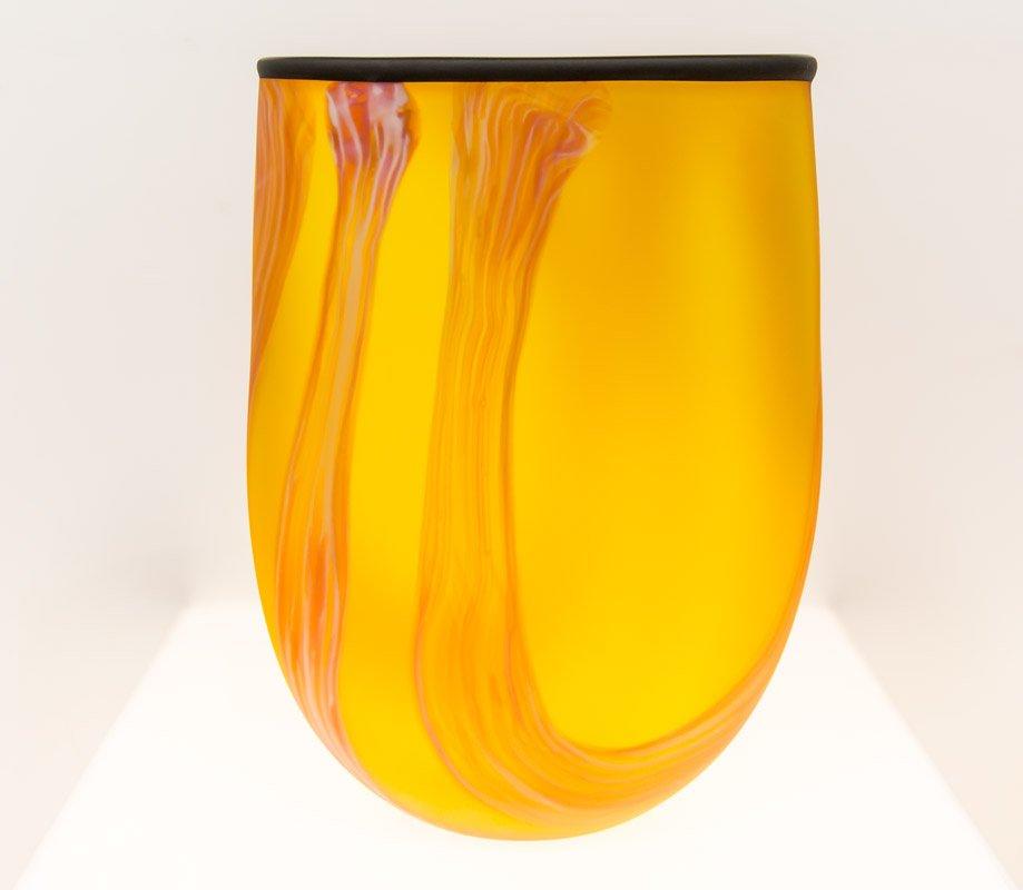 Grant Donaldson   Orange Swirl Vase Fine Art