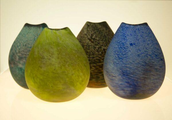 Pebble Vase Grant Donaldson Grodon Studios Art Glass