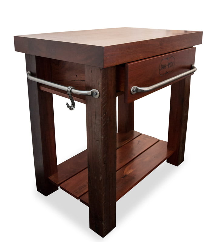 Thick Top Jarrah Kitchen Work Bench Fine Art