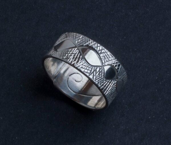 Emma Cotton Etched Carve Ring
