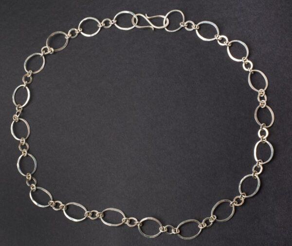Emma Cotton Lace Silver Necklace