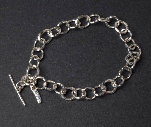 Emma Cotton Long Chains Silver Bracelet