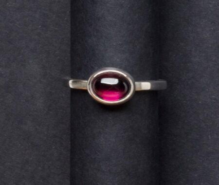 Emma Cotton Rose Garnet Ring