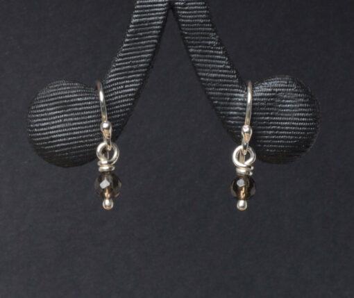 Emma Cotton Smoky Quartz Earings
