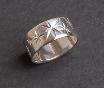 Emma Cotton   Star Carve Ring Fine Art