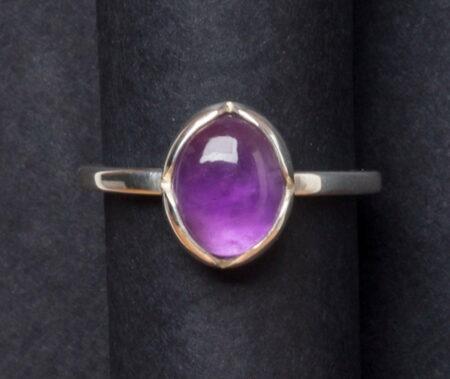 Emma Cotton Violet Amethyst Ring