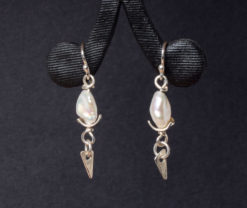 Emma Cotton   Zen Pearl Earings Fine Art