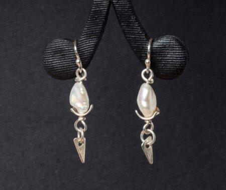 Emma Cotton Zen Pearl Earings