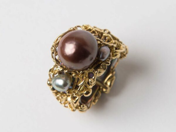 Gemma Baker Fusion Pearl Ring Side