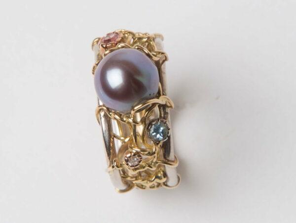 Gemma Baker Pearl Gemstone Ring