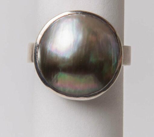 Jl20 Jane Liddon Ring 475 1 Round Mabe Pearl Ring