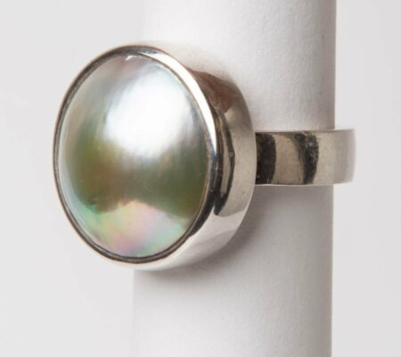 Jl26 Jane Liddon Ring 495 2 Mabe Pearl Silver Ring