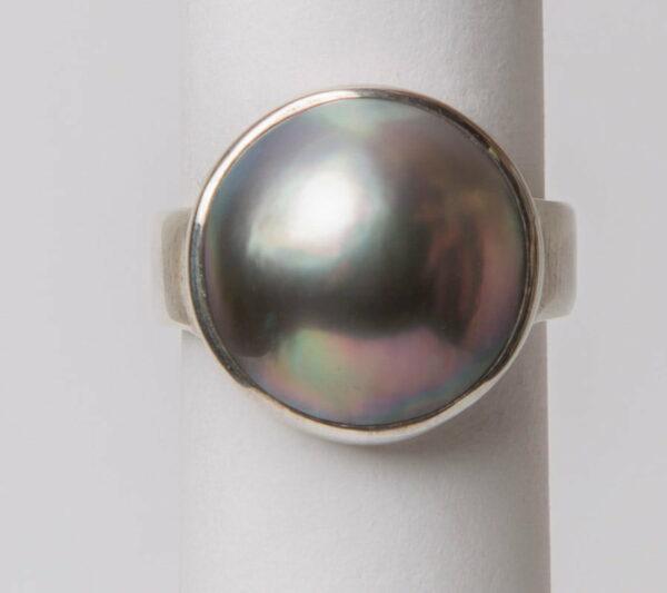 Jl27 Jane Liddon Ring 475 1 Black Lip Mabe Pearl Ring