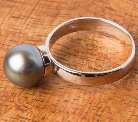 Jl45 Jane Liddon Green Ring 950 Green Pearl Ring