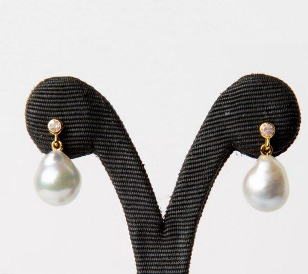 Jl53 Jane Liddon Rose Quartz Drop Earings Rose Quartz Pearl Earings
