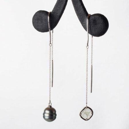 Michela Liddon Asymmetric Pearl Earings