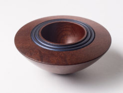 Robert Jones   Native Pear Bowl Blue Fine Art