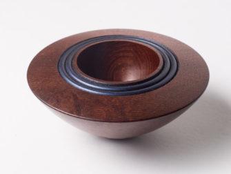 Robert Jones   Native Pear Bowl Blue Fine Art
