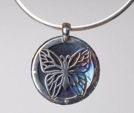 Amilia Adams Silhoutte Butterfly Pendant
