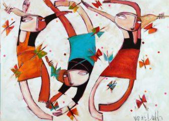 Janine Daddo   Flutterfly Dance Fine Art