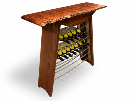 Jazz Wine Rack Jarrah Stainless Steel With Wine