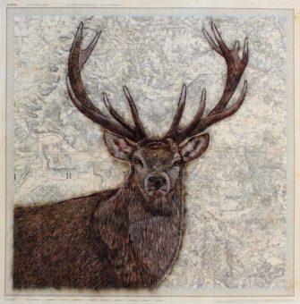 Kay Gibson   Antipodean Encounter Red Deer Fine Art