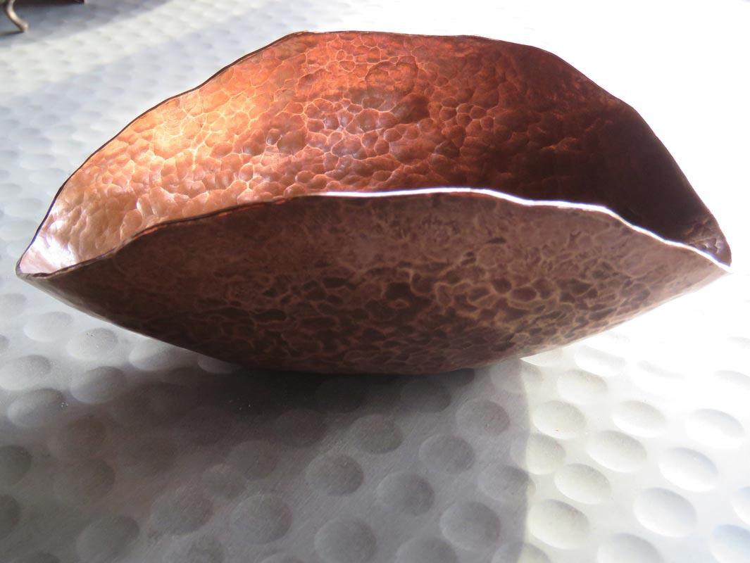Michelle Gauntlett Copper Peened Bowl
